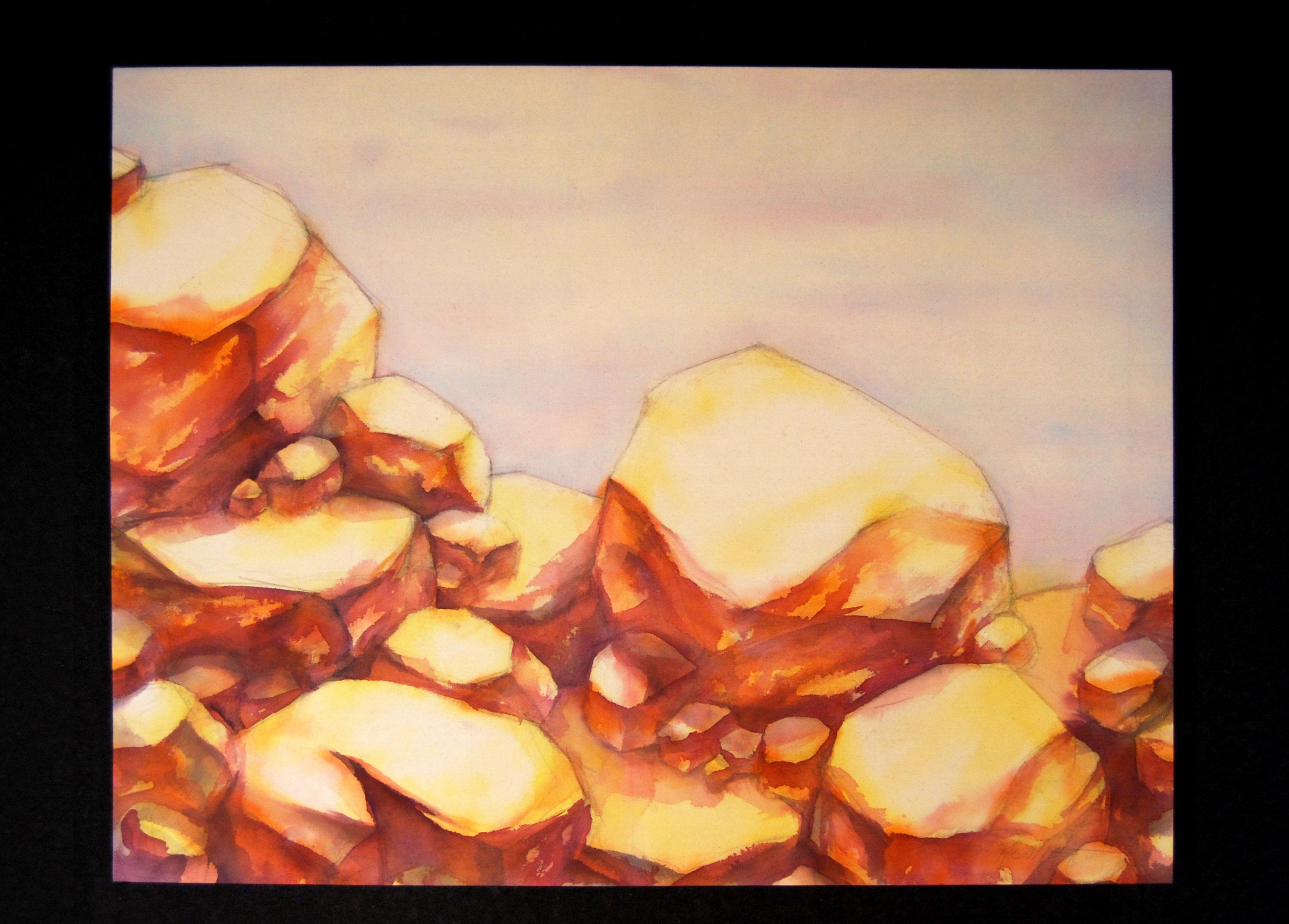 Magenta-Boulders